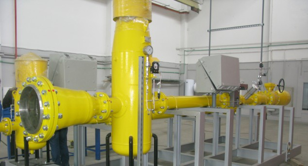 Gas metering and filtration unit, city of Kaluga